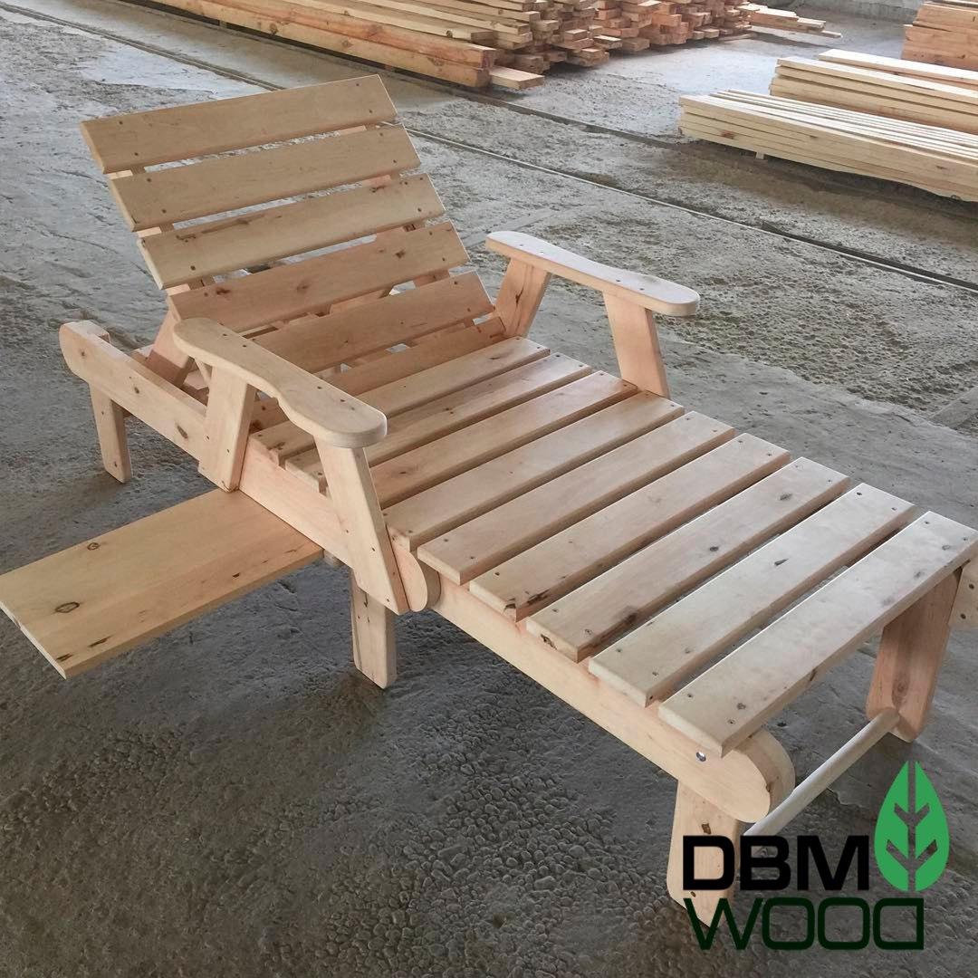 Шезлонг деревянный